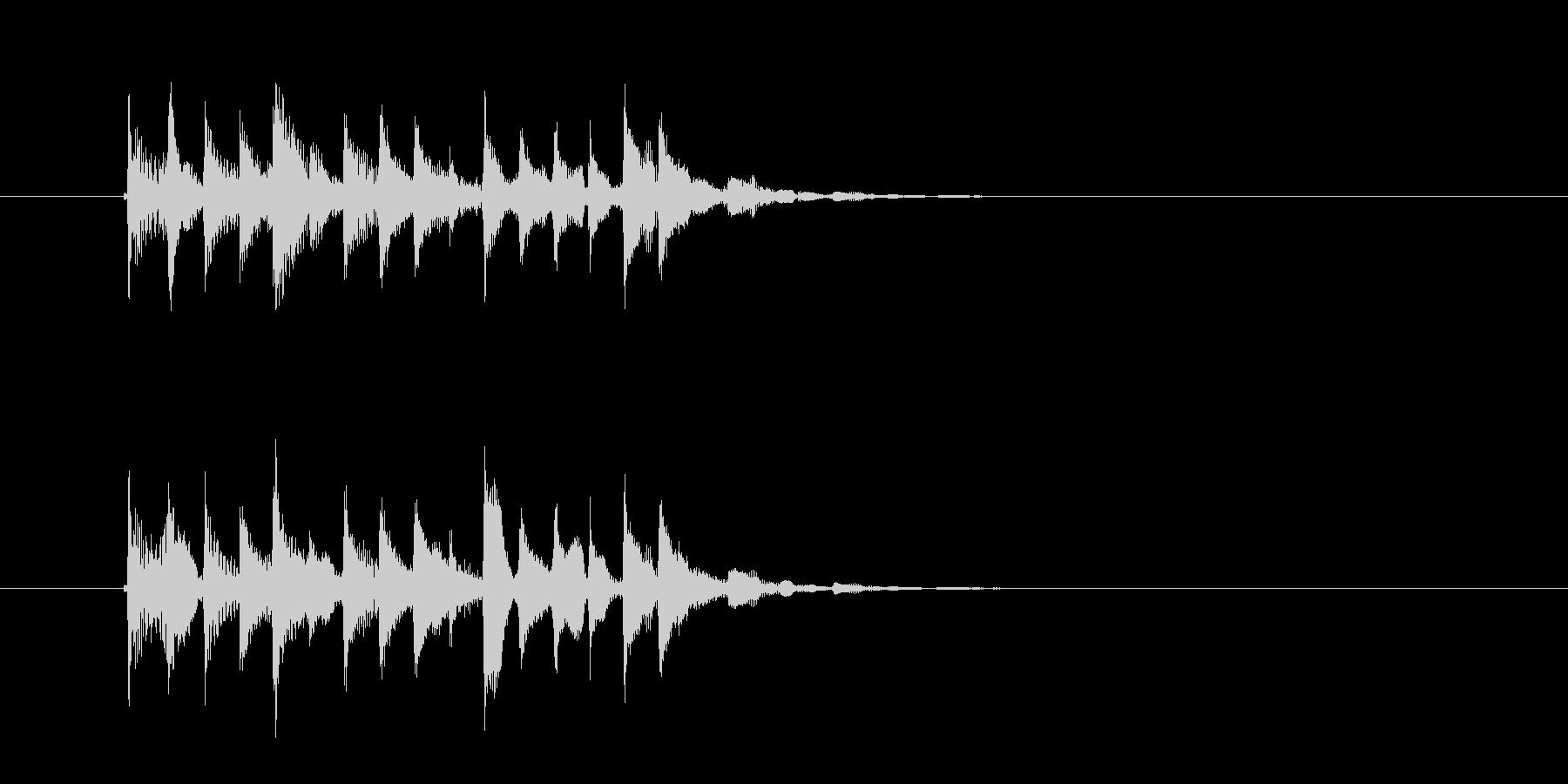 繊細なシンセサイザーのテクノポップスの未再生の波形