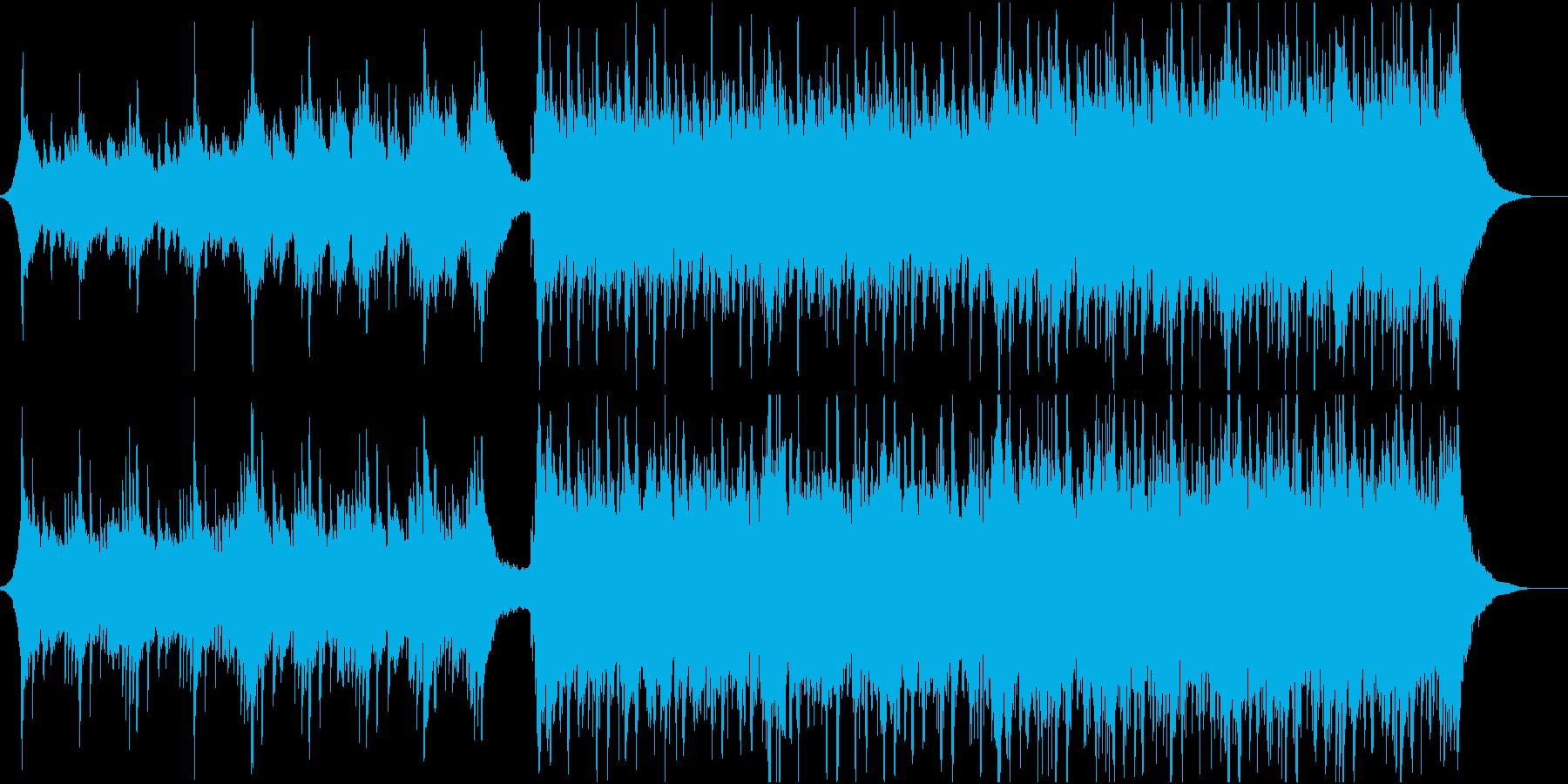 幸せな雰囲気のオーケストラ曲の再生済みの波形
