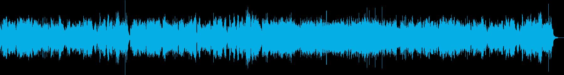 情景的なヴァイオリンとピアノの再生済みの波形