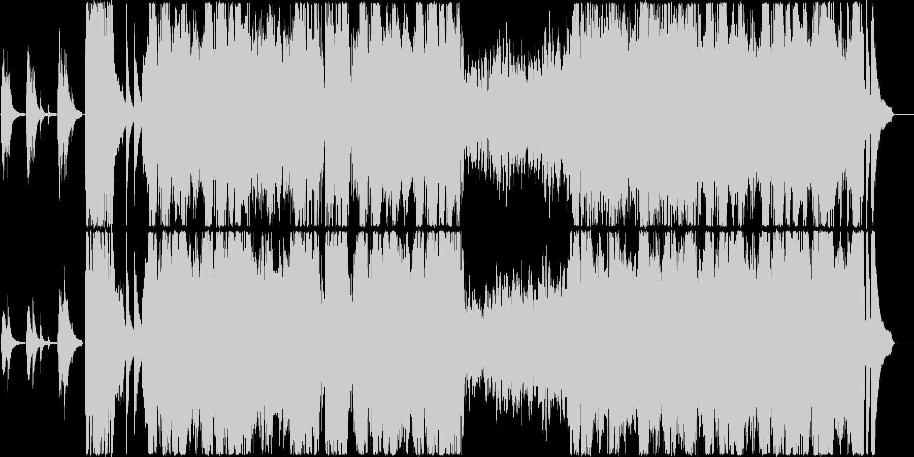 疾走感のあるクラシック系のピアノ曲の未再生の波形