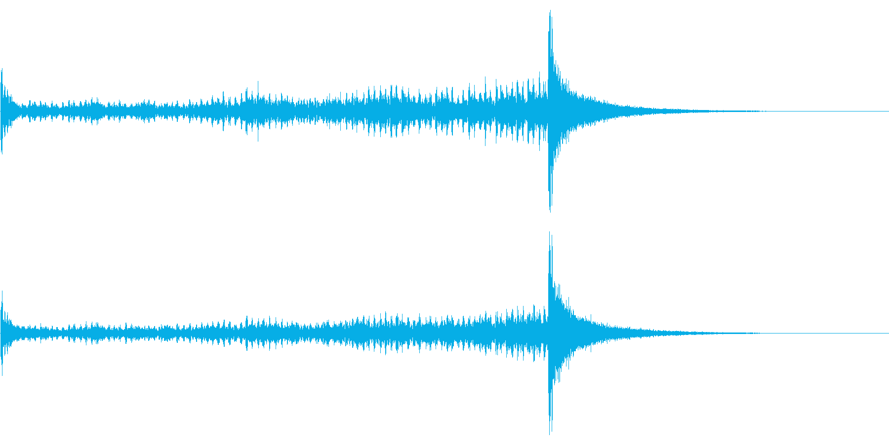 ティンパニーロール長+シンバル☆ドン3の再生済みの波形