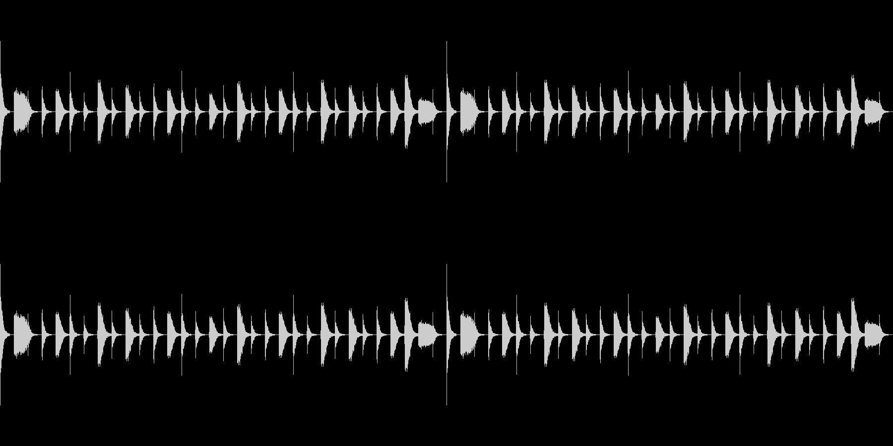 ファンクリズム ハイハットの未再生の波形