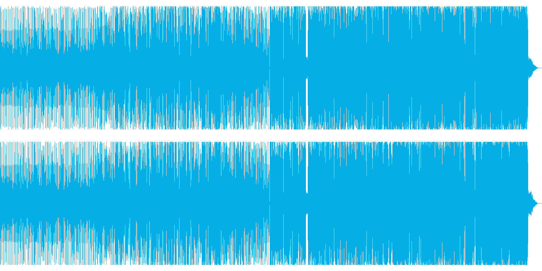 ダブとテクノとブレイクビーツの再生済みの波形