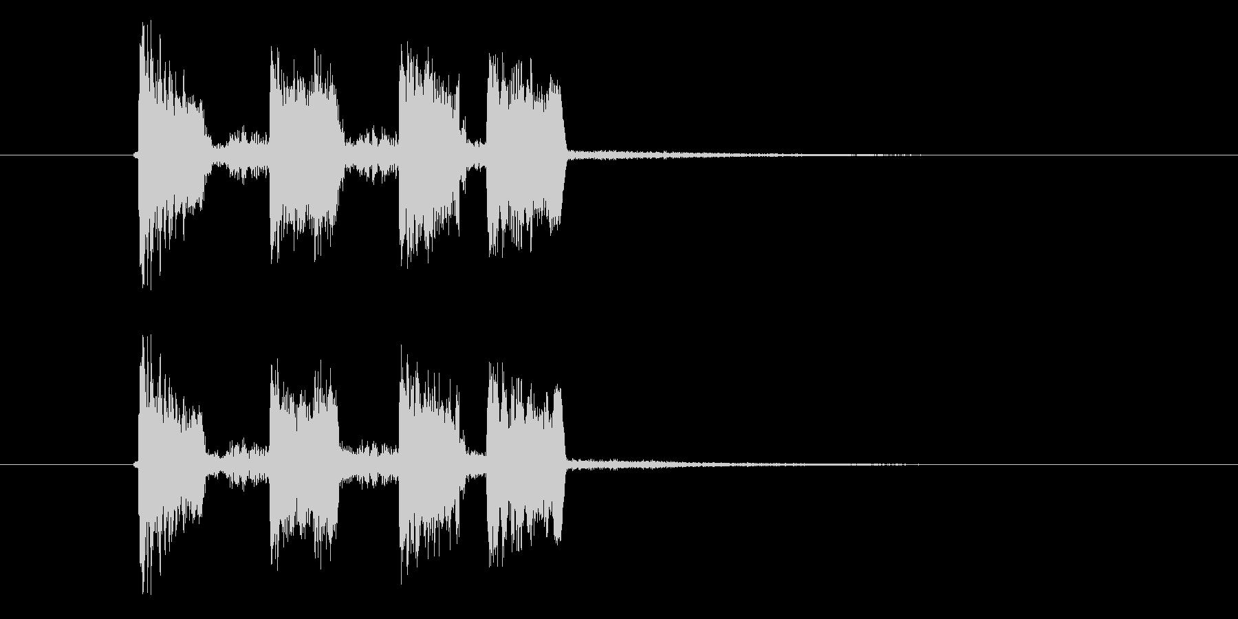 ズチャチャチャ(エレクトーン音)の未再生の波形