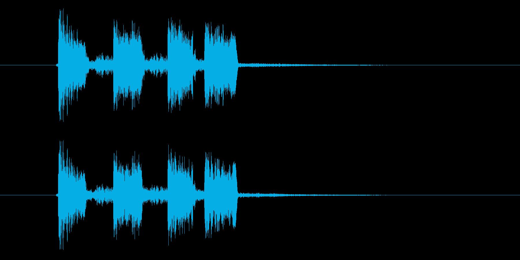 ズチャチャチャ(エレクトーン音)の再生済みの波形