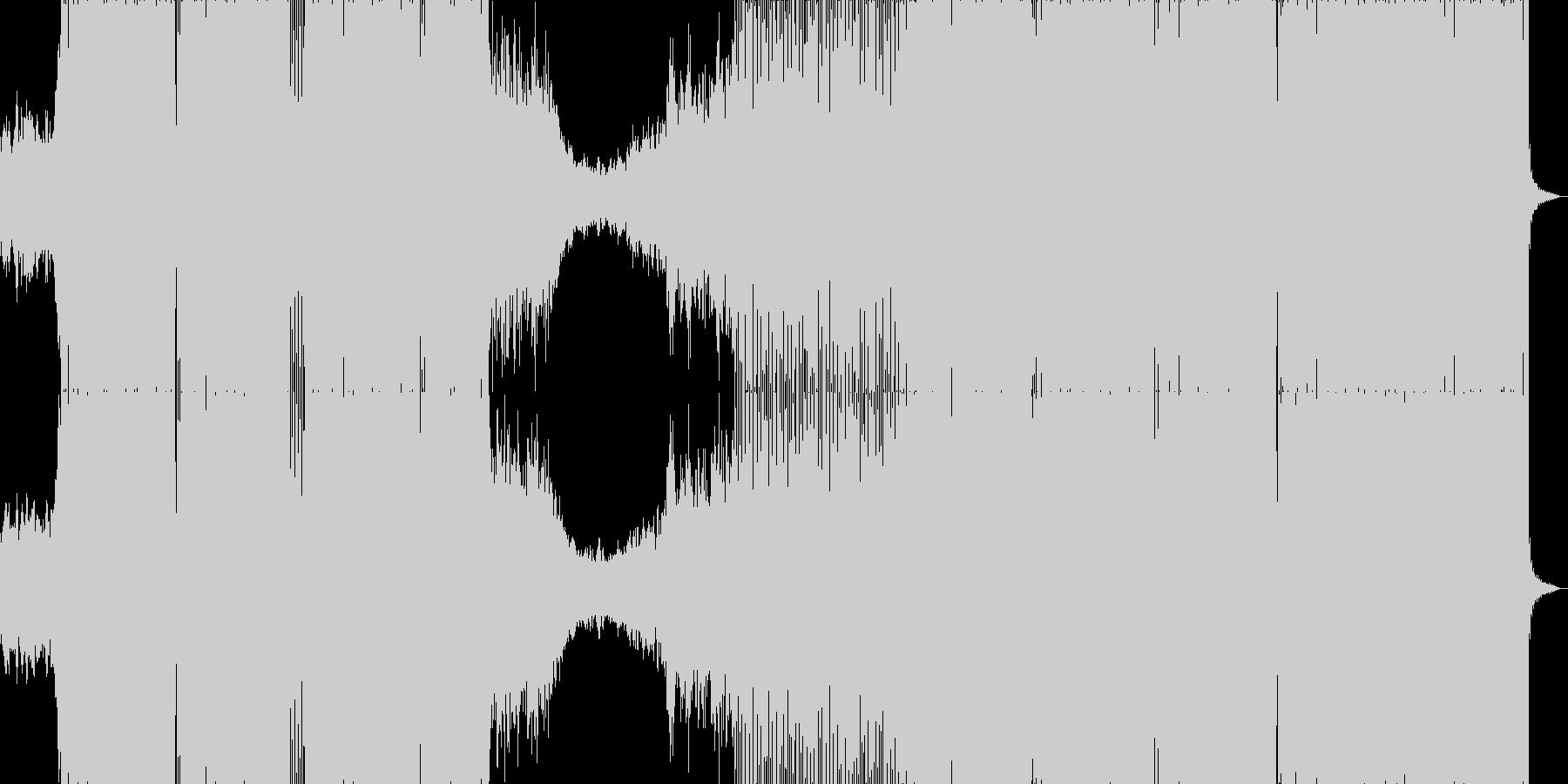 ゲームBGM風の爽やかなハウスサウンドの未再生の波形