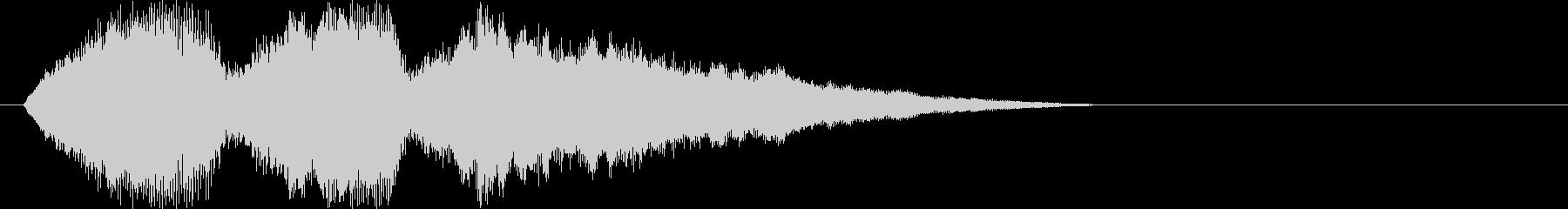 ストリングスによる優しい旋律の未再生の波形
