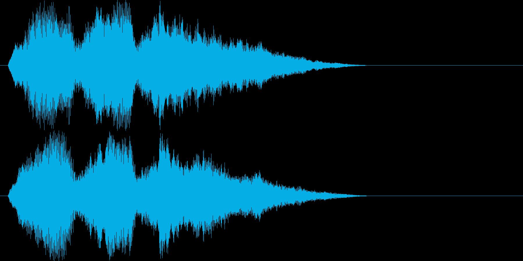 ストリングスによる優しい旋律の再生済みの波形