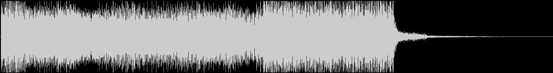 ゲームオーバーの怪しいシンセジングルの未再生の波形