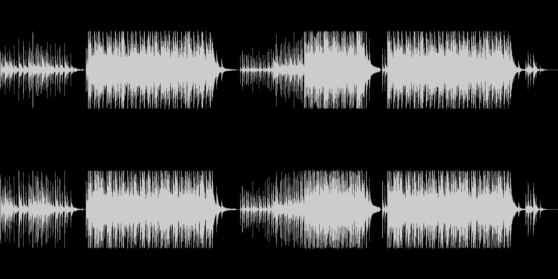 切ない抒情的なピアノソロの未再生の波形