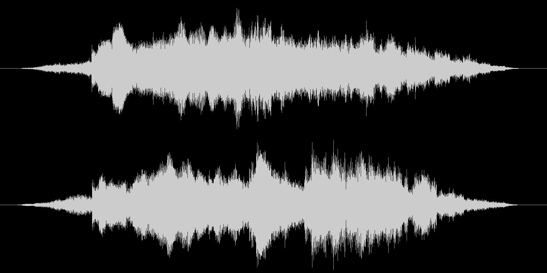 明るいイメージのサウンドロゴの未再生の波形