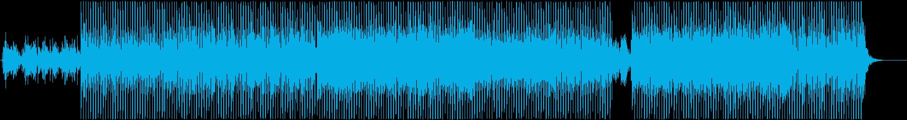 未来への高揚感のあるテクノポップの再生済みの波形