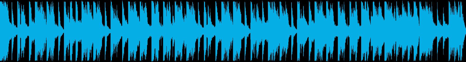 明るい和風テクノポップ・ループ再生用の再生済みの波形