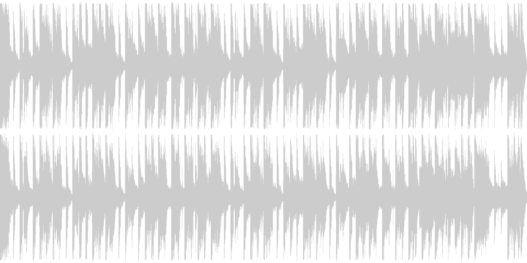 明るい和風テクノポップ・ループ再生用の未再生の波形