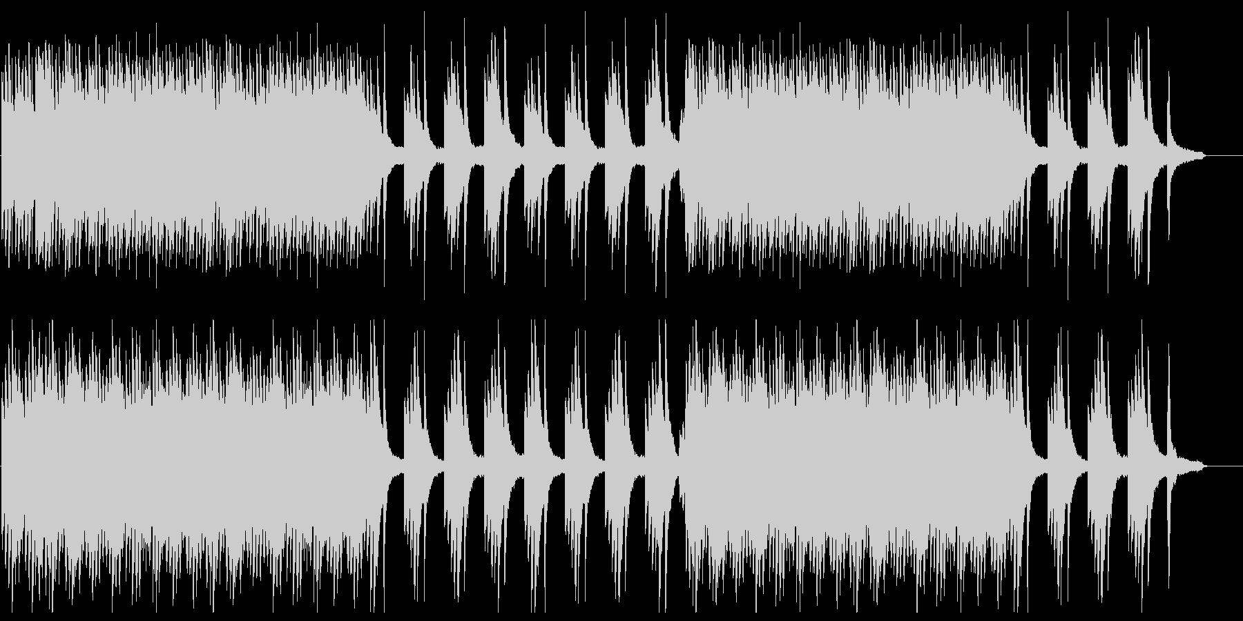 ピアノとシンセのイージーリスニングの未再生の波形