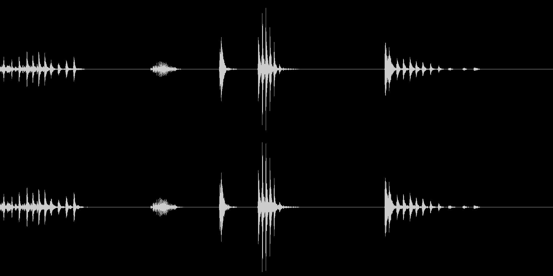 複数回ゲップした音の未再生の波形