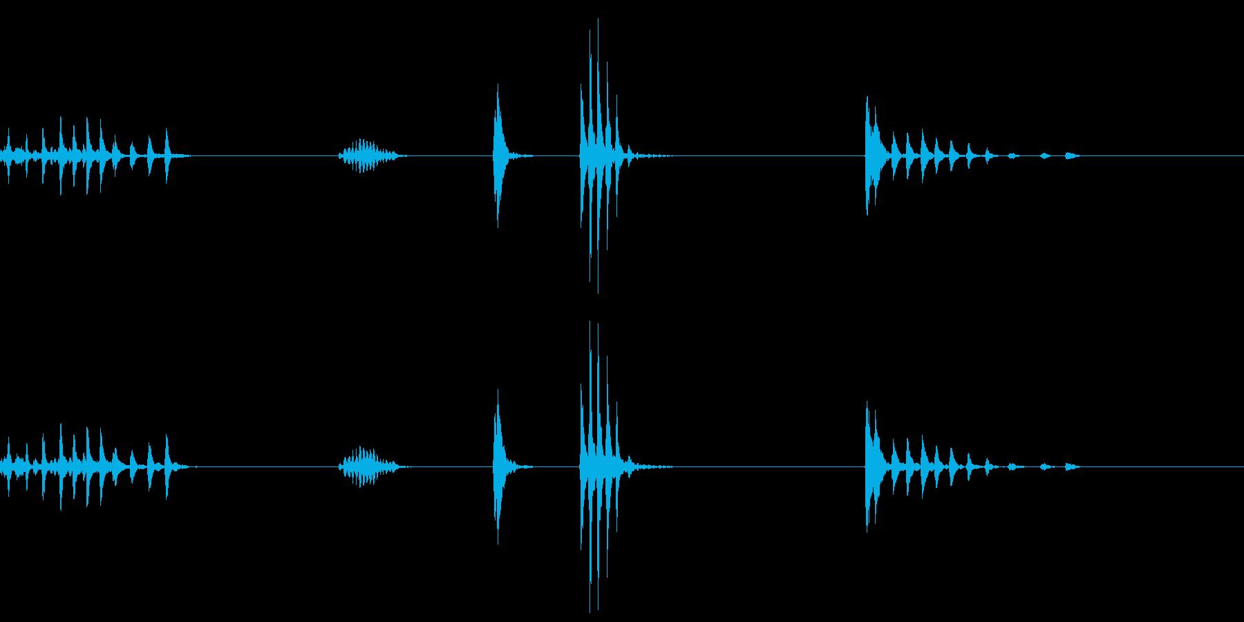 複数回ゲップした音の再生済みの波形