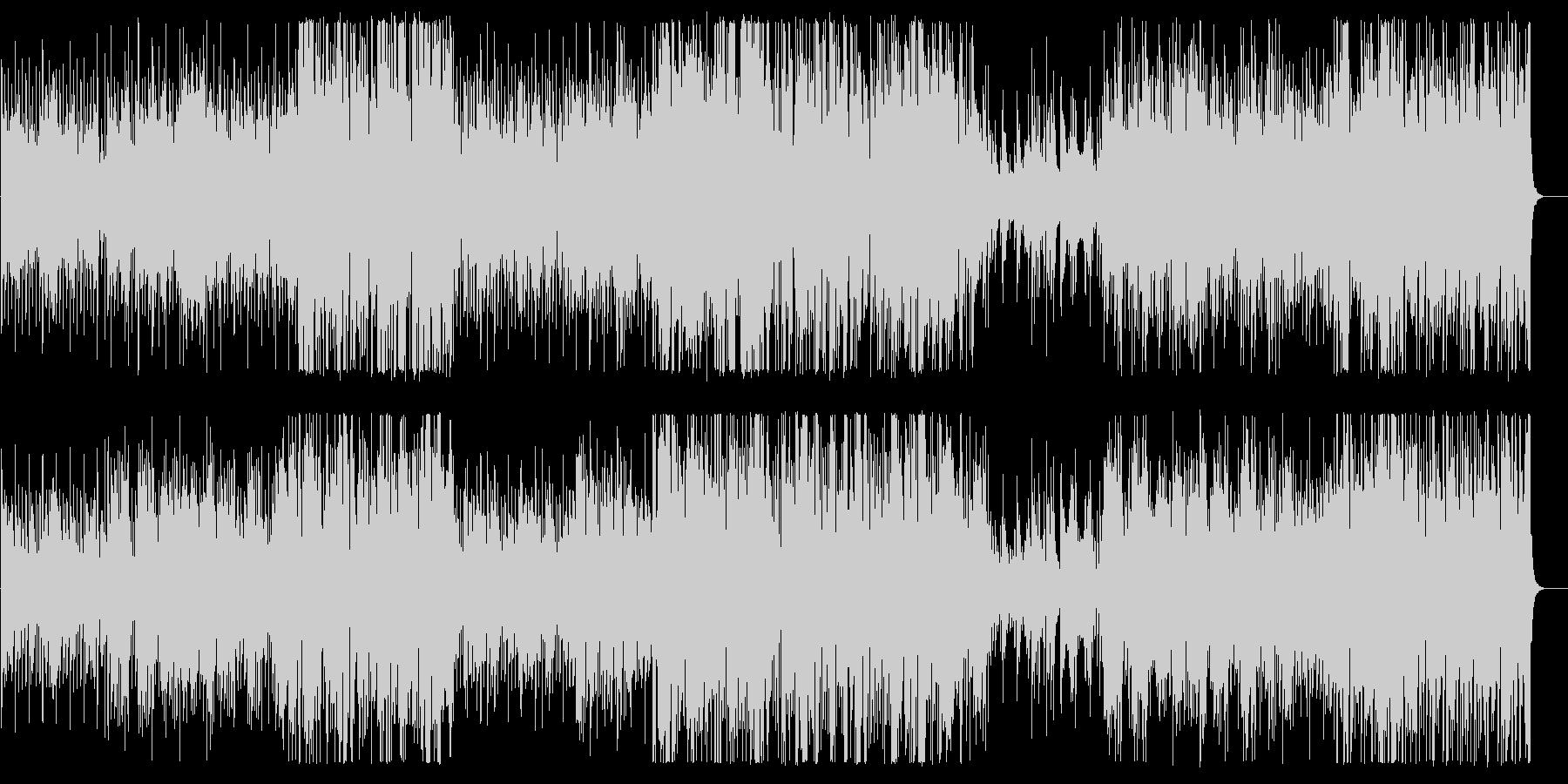 アップテンポのボサノバジャズハウスの未再生の波形