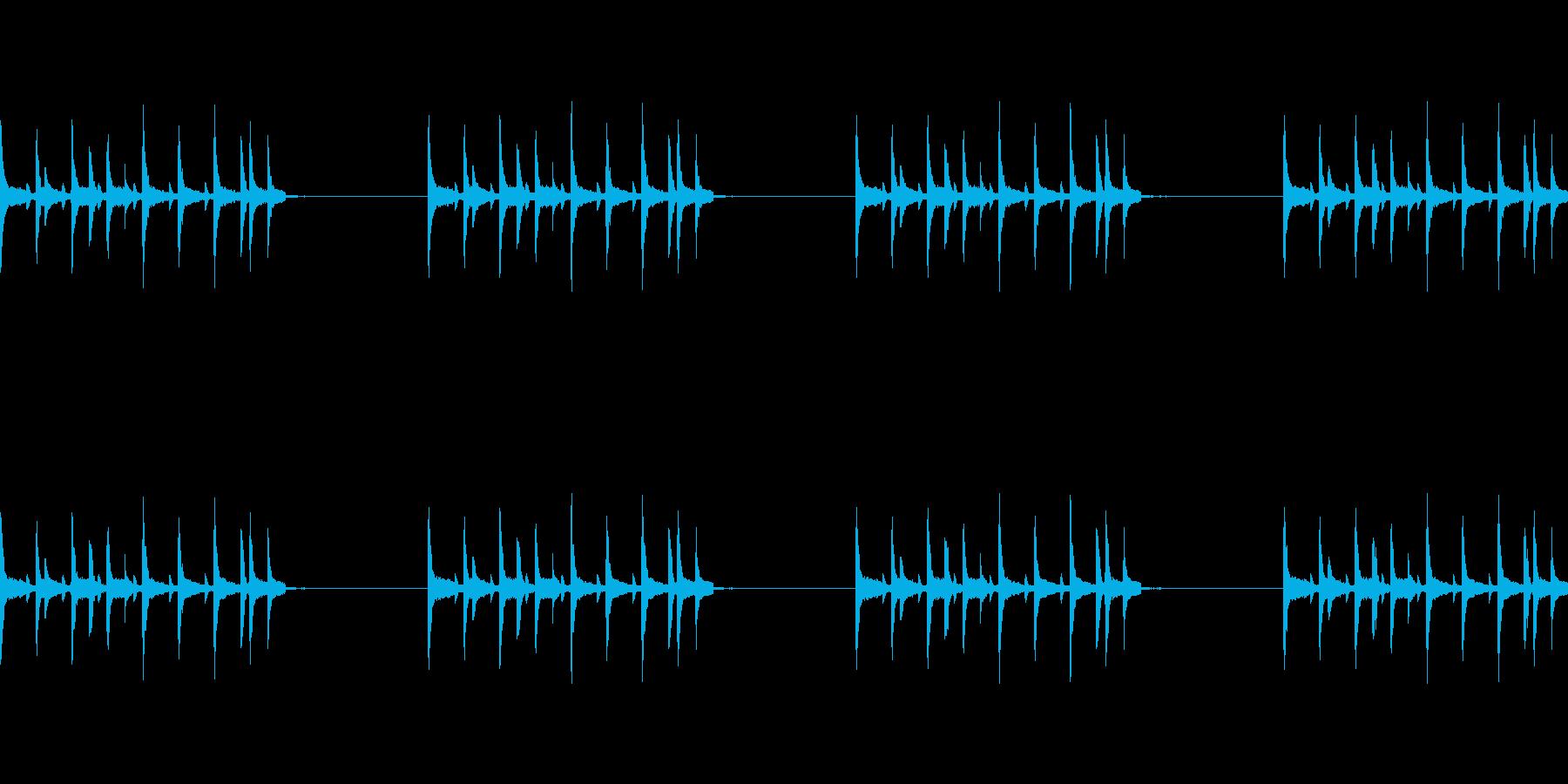 和風のドラムLOOPですの再生済みの波形