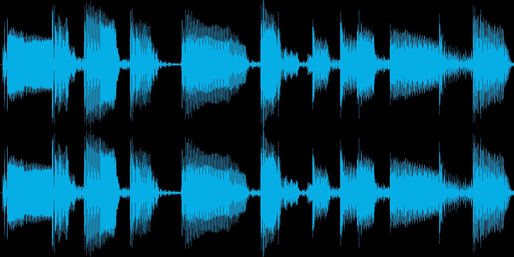 ファンキーなスラップベースソロ素材の再生済みの波形