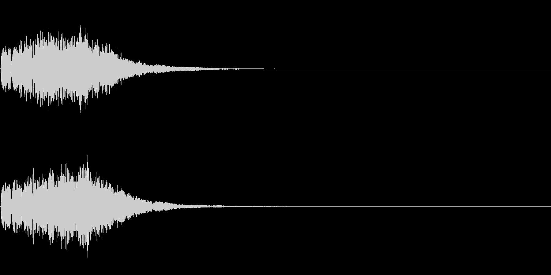 ベル 01(キラキラキラン)の未再生の波形