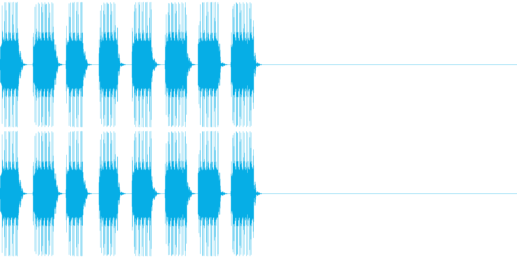 NG、キャンセル等の再生済みの波形