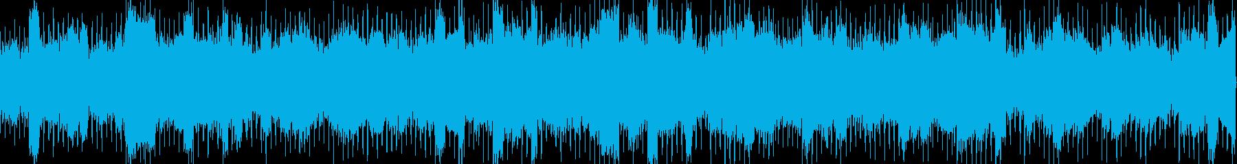 浮遊感のあるエレクトロ系BGMの再生済みの波形