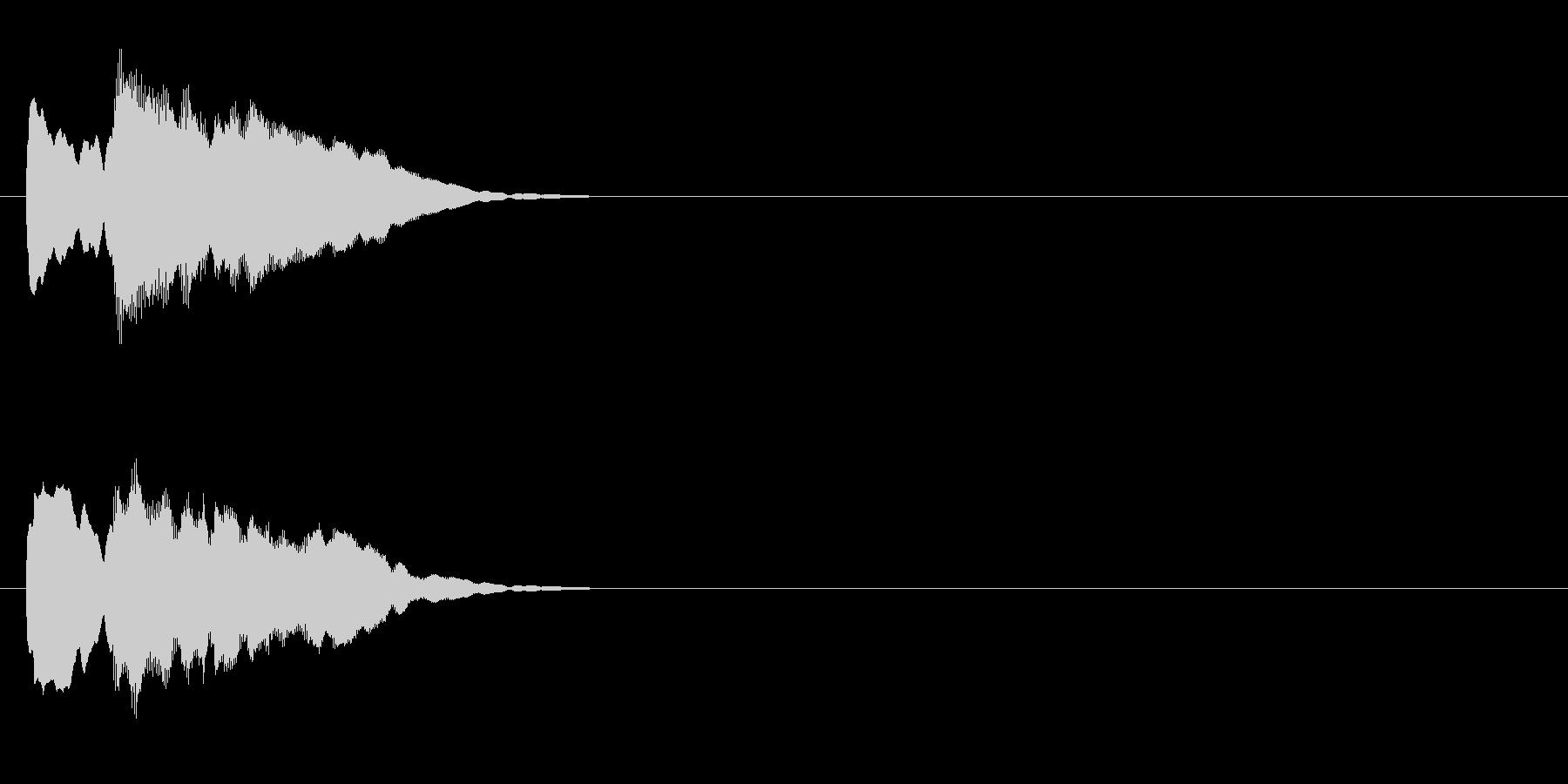 クイズ系04 正解 ピンポンの未再生の波形