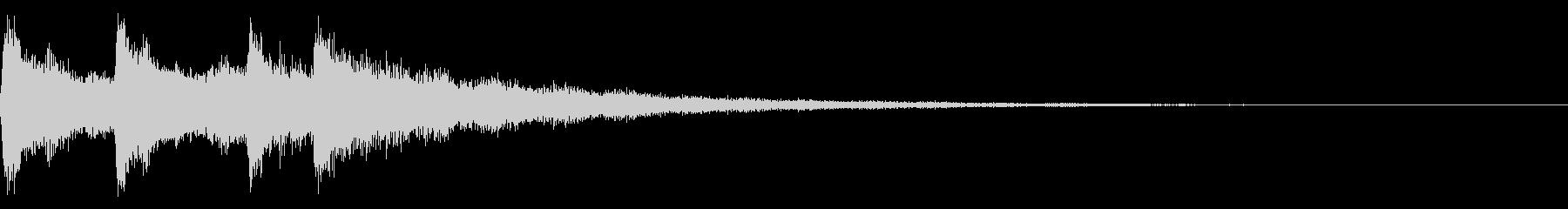 ミステリアスな音 恐怖シーンの演出にの未再生の波形