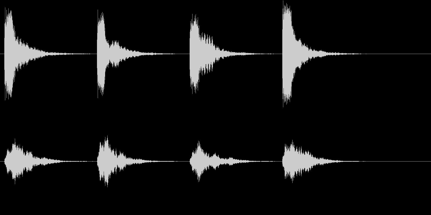 教会の鐘の音の未再生の波形
