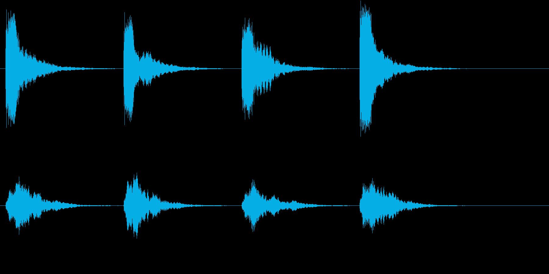 教会の鐘の音の再生済みの波形