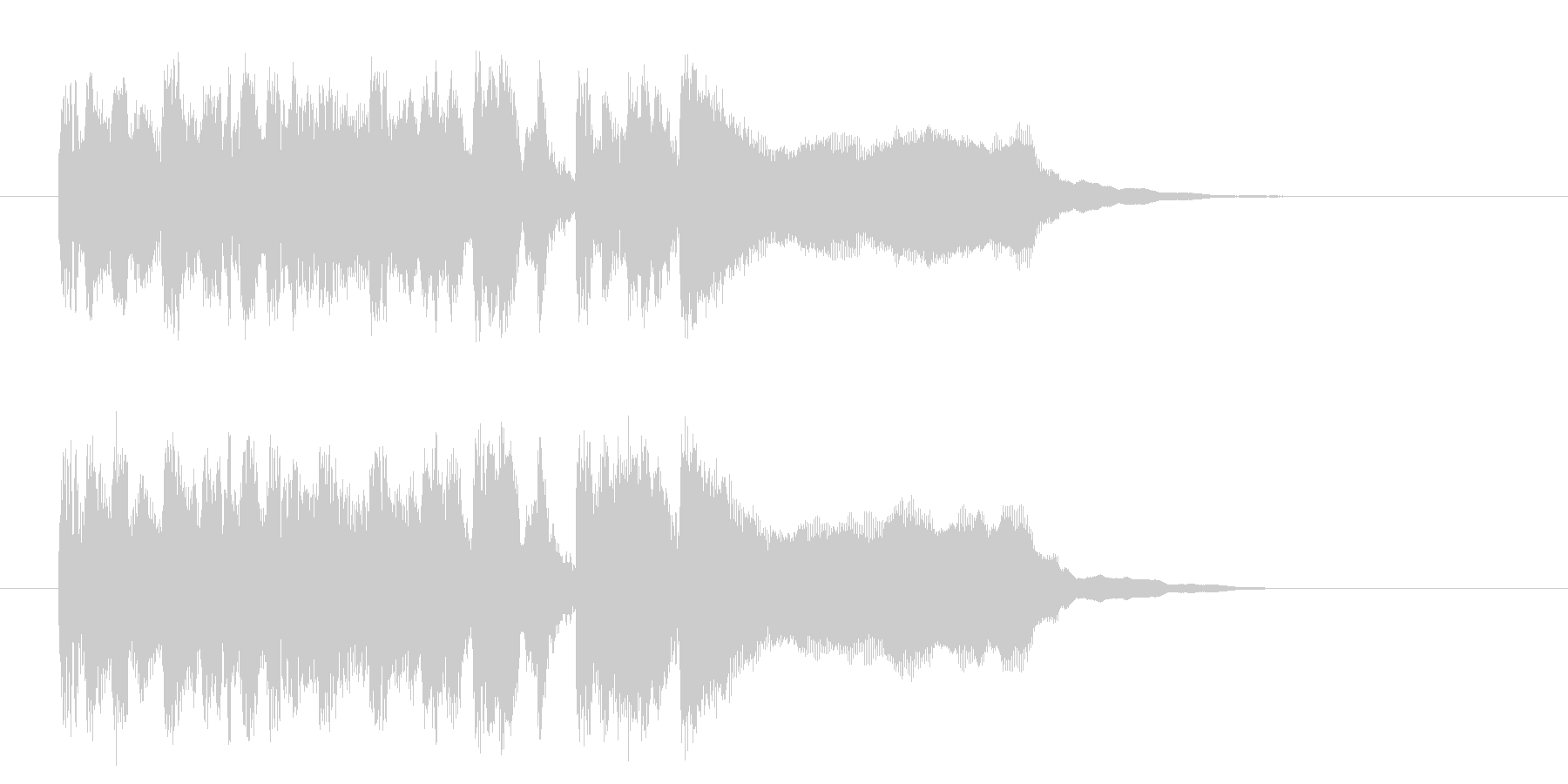 疾走感溢れるポップなシンセジングルの未再生の波形