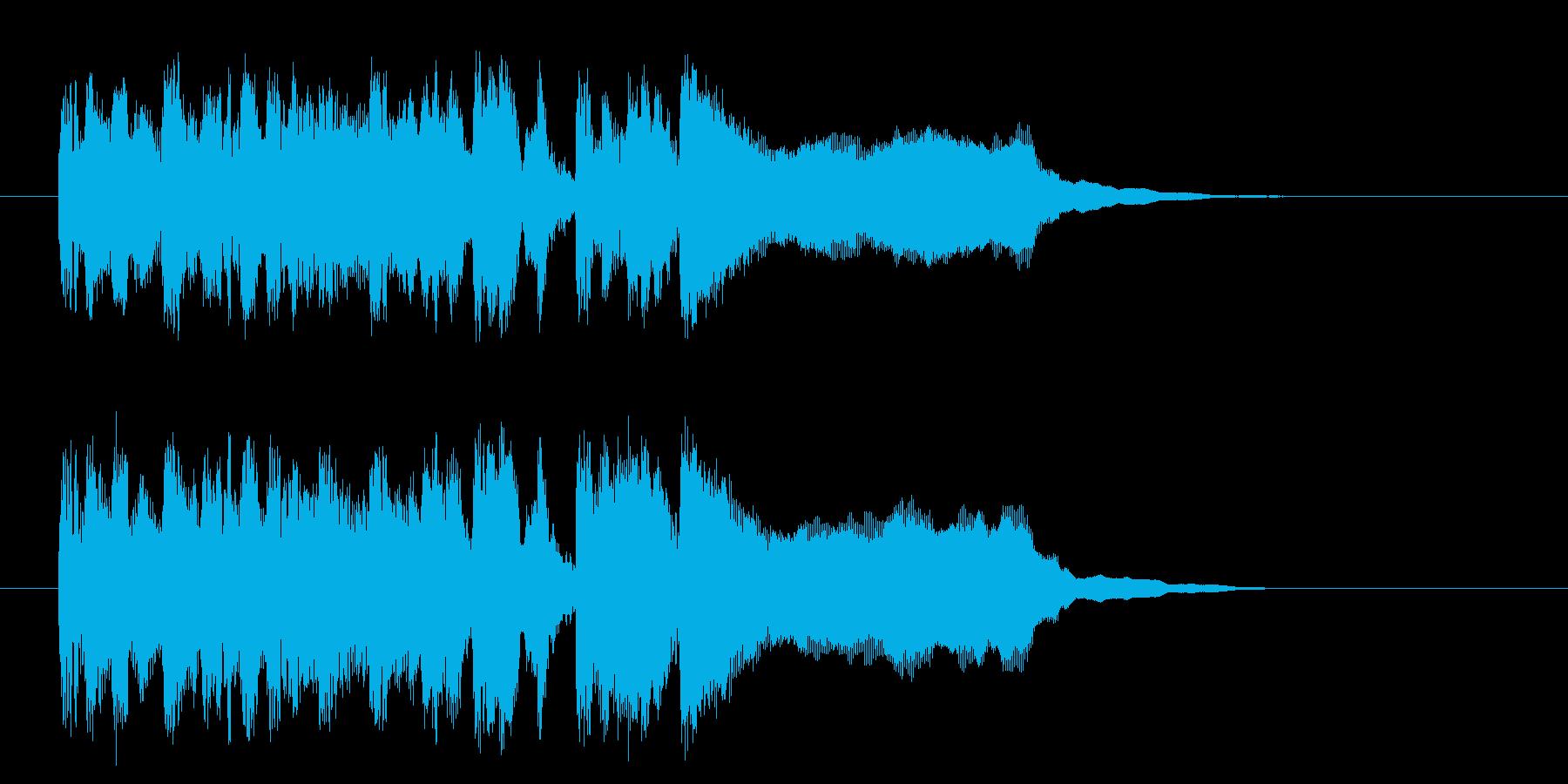 疾走感溢れるポップなシンセジングルの再生済みの波形