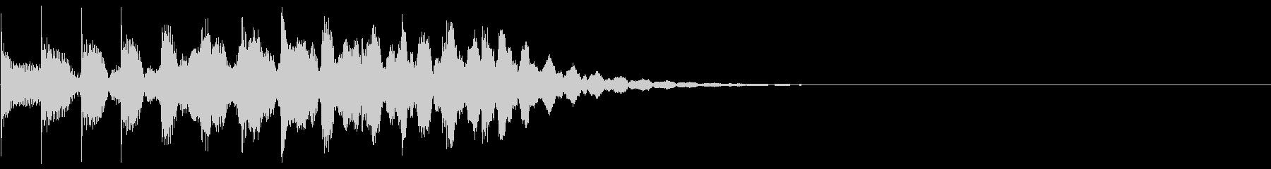 シンプルな効果音 マリンバ 半音階の未再生の波形