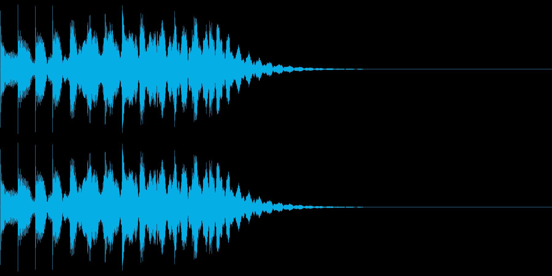 シンプルな効果音 マリンバ 半音階の再生済みの波形