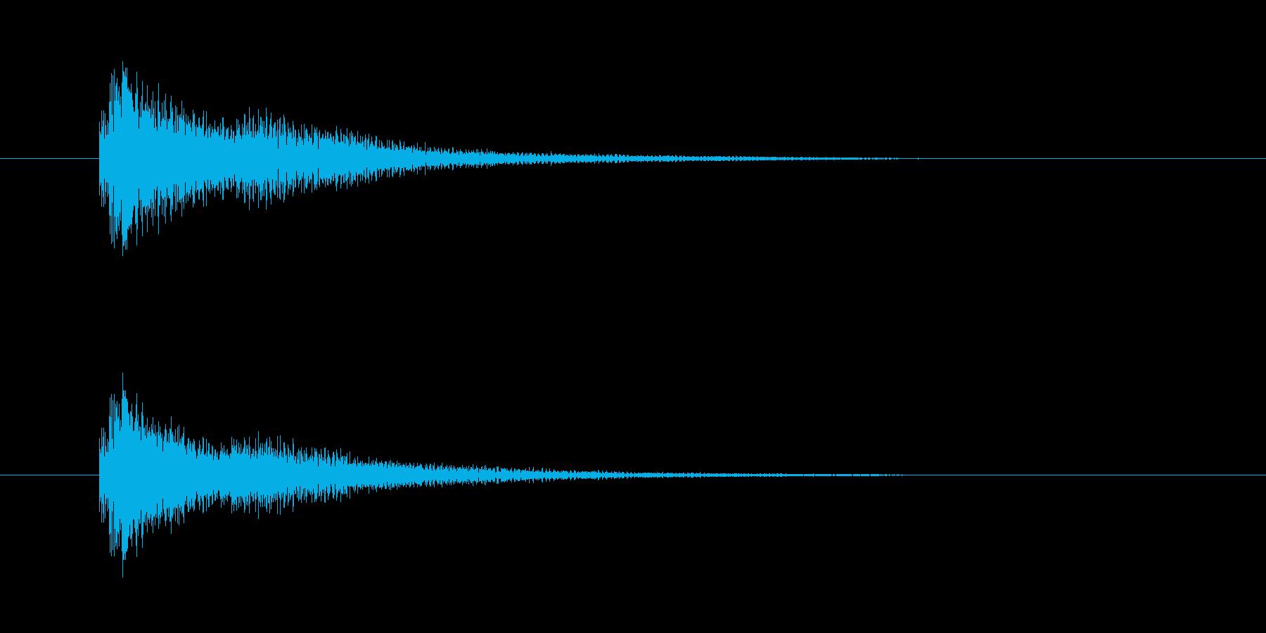 ジャ~アン(不安を駆り立てる音)の再生済みの波形