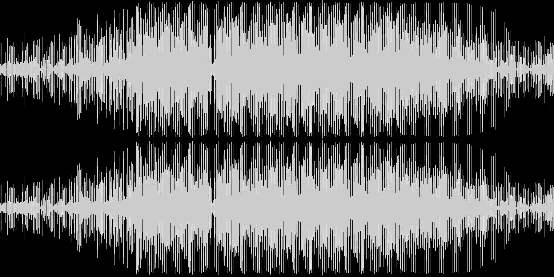 一般的なシンセドラムのループの未再生の波形