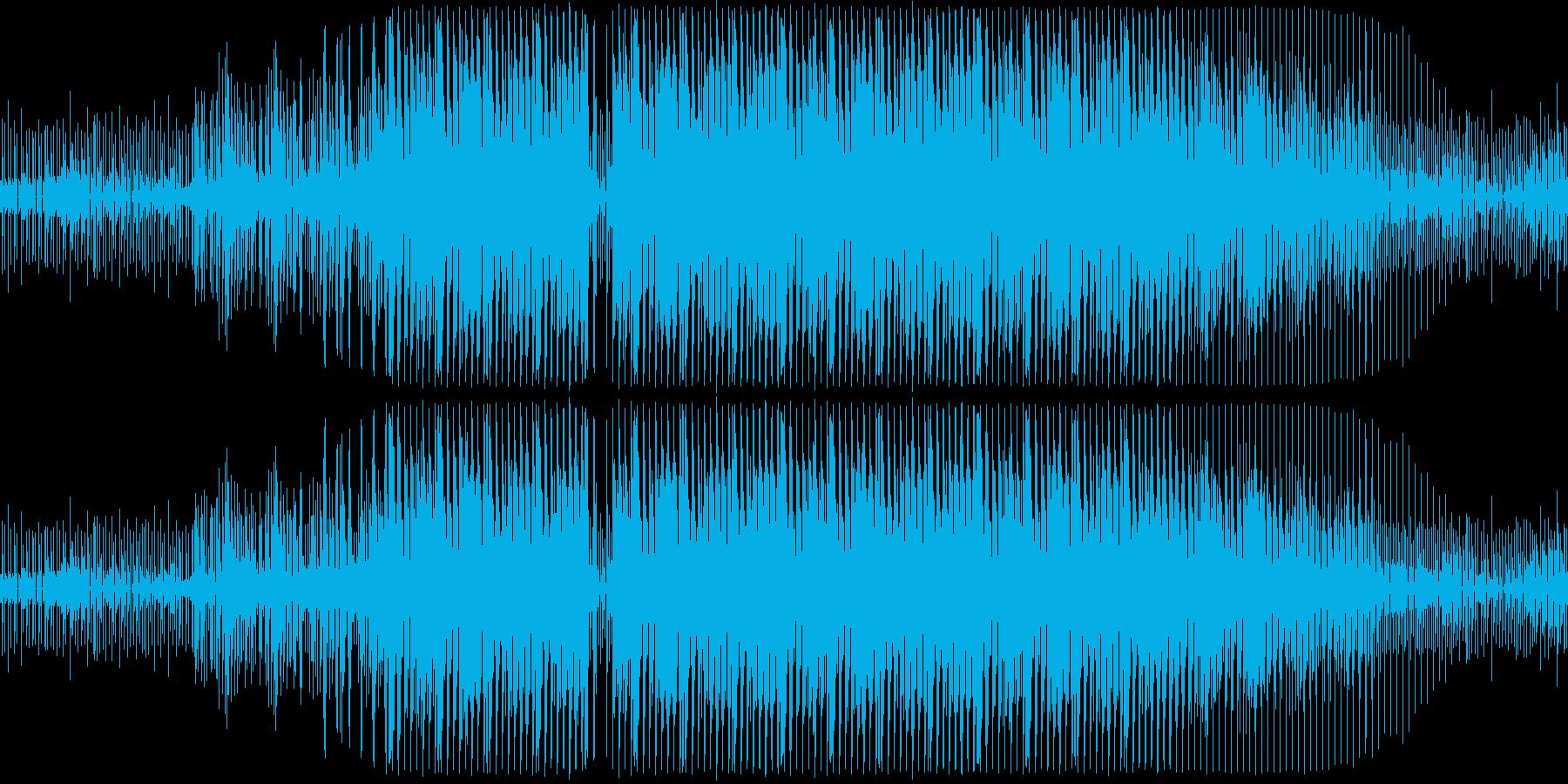 一般的なシンセドラムのループの再生済みの波形