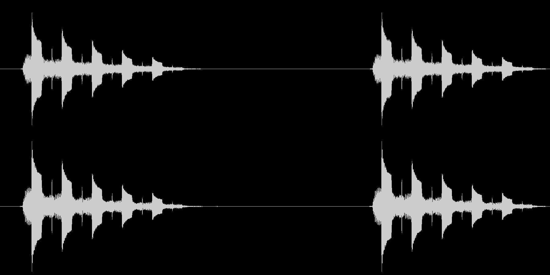 トゥルルルル、という電話の音ですの未再生の波形