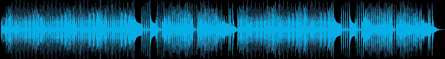 ポルカ風軽快な四つ打ち、木琴スタイルの再生済みの波形