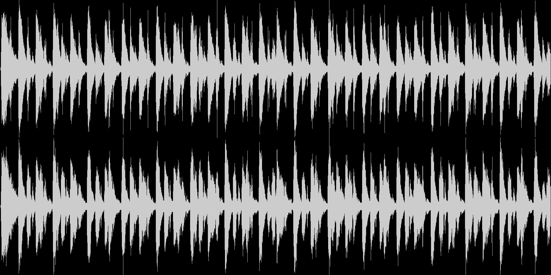 スタイリッシュなパーカッションテクノの未再生の波形