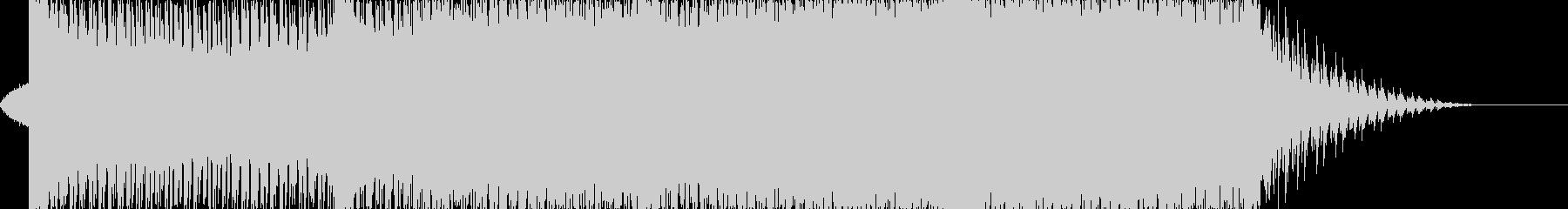 躍動的なオープニング・サイバートランス曲の未再生の波形