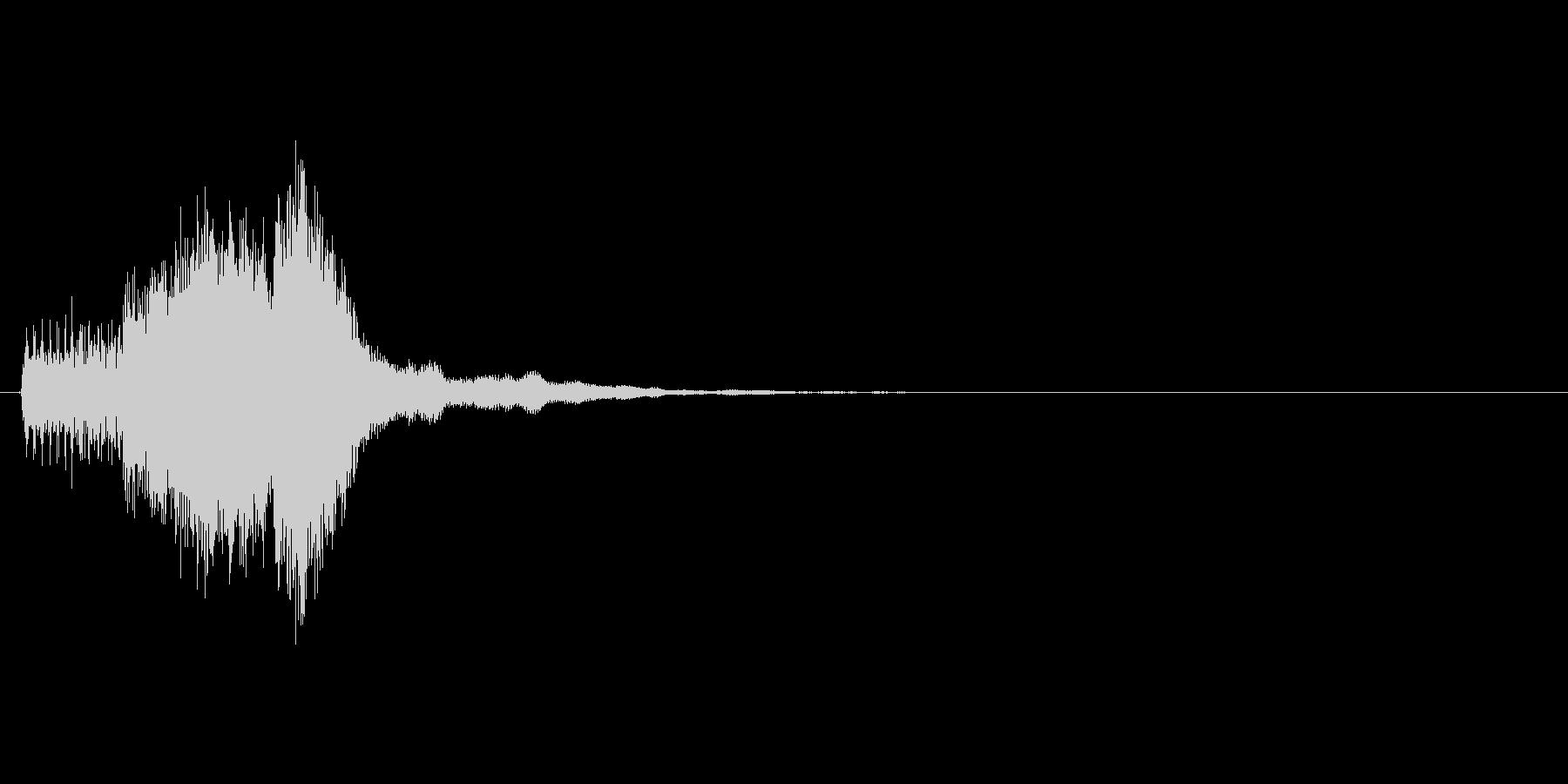 パズルゲームの連鎖における4段階目の音の未再生の波形