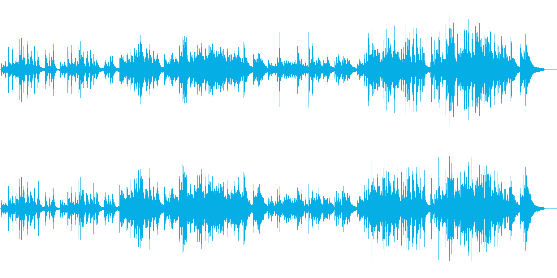 【バラード ピアノ】感動的な優しいピアノの再生済みの波形