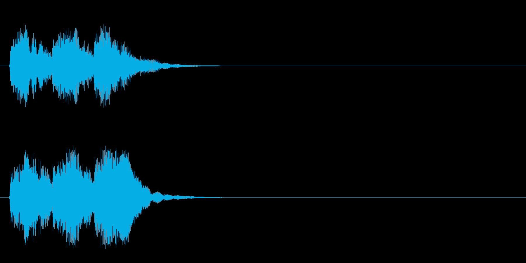 ジングル/アタック(ポップ)の再生済みの波形