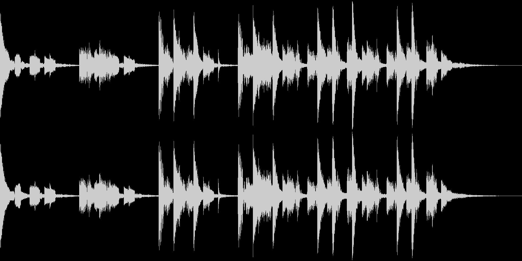 ジャズテイストのテクノBGMの未再生の波形