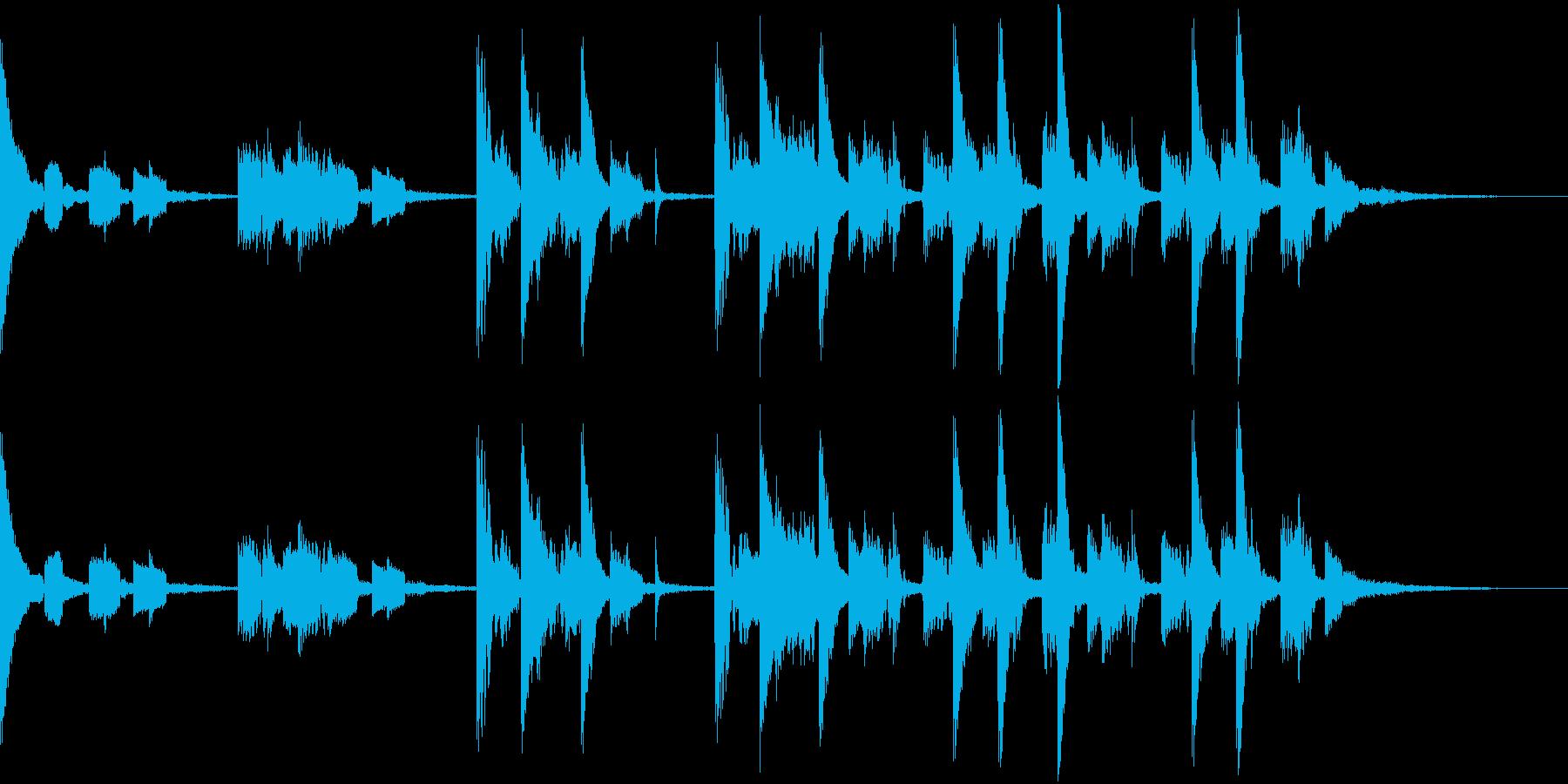 ジャズテイストのテクノBGMの再生済みの波形