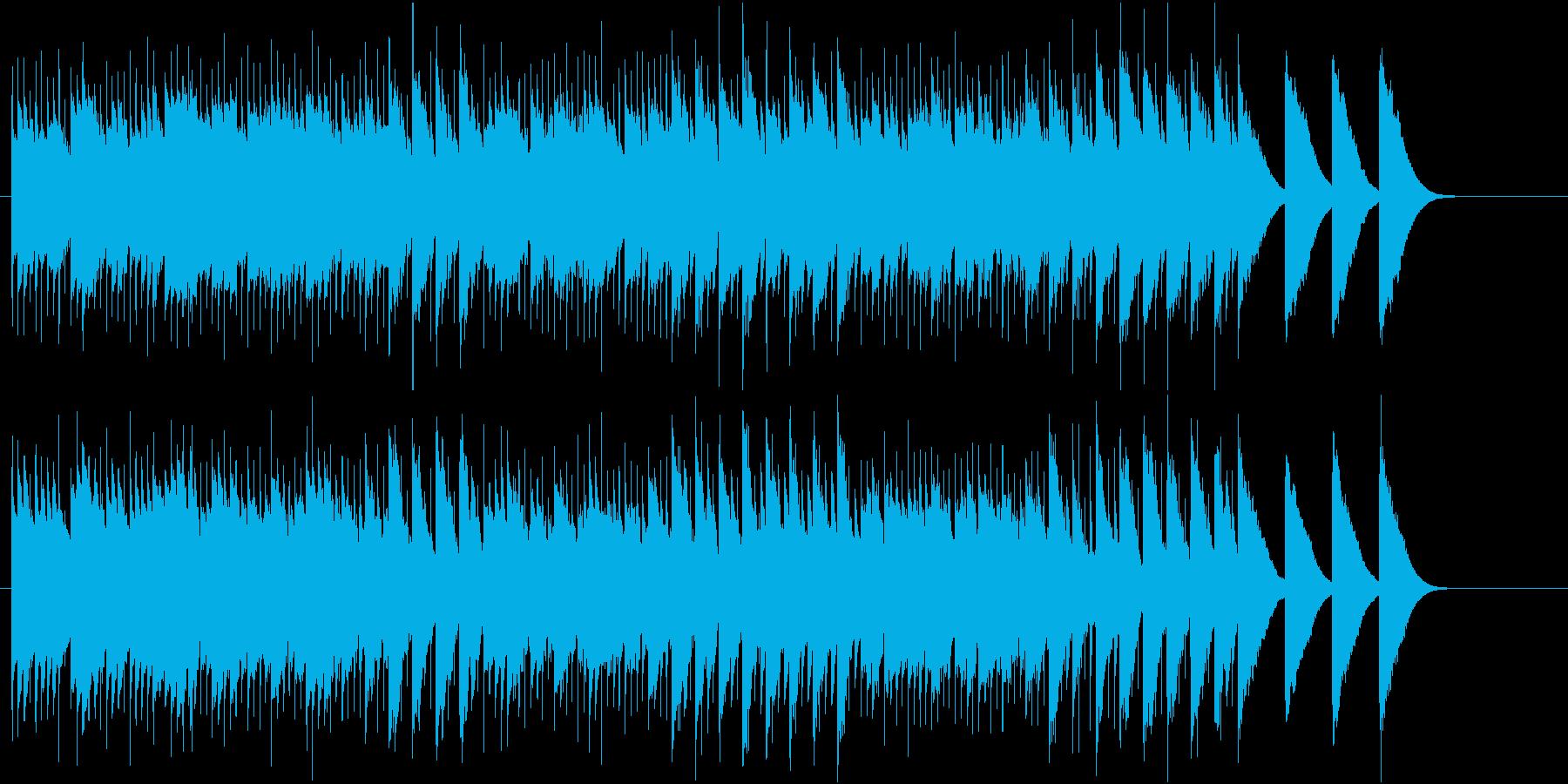 幻想的な異空間のオルゴールの再生済みの波形