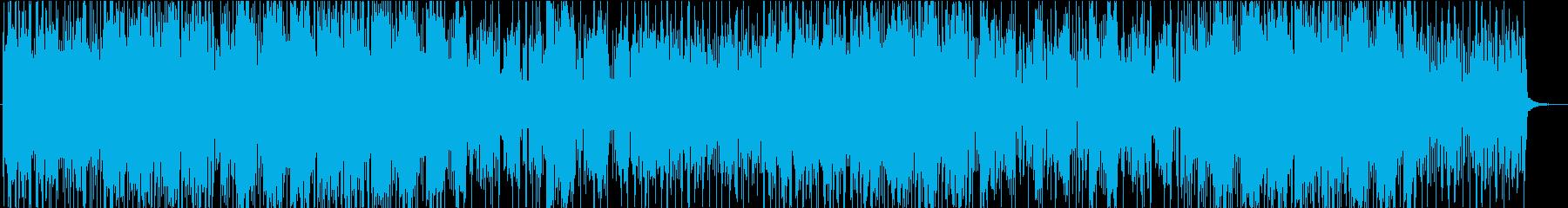 ミステリアスな雰囲気の怪しいシンセ曲の再生済みの波形