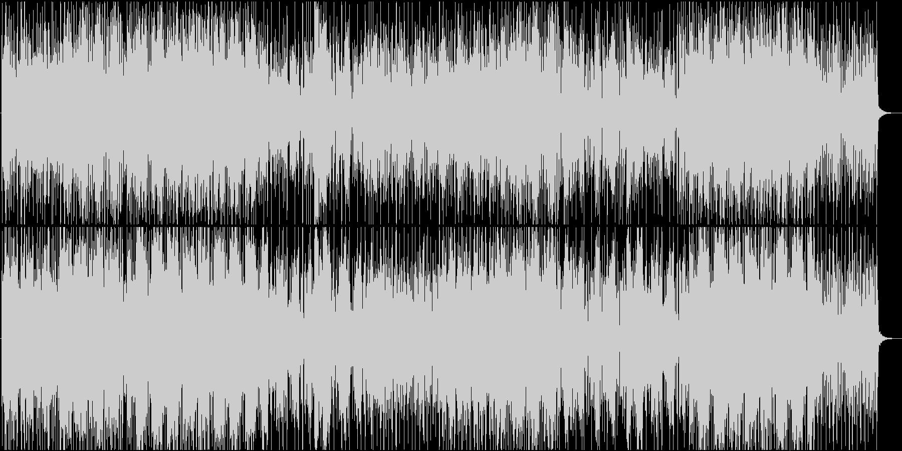 ミステリアスな雰囲気の怪しいシンセ曲の未再生の波形